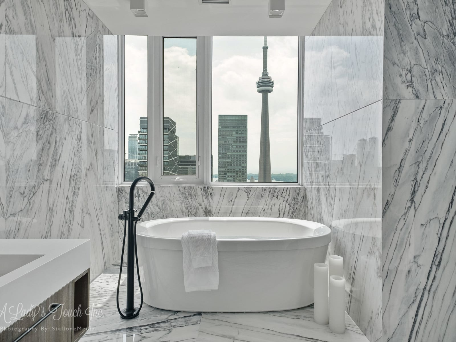 30 Nelson St, Ph101, Toronto master bathroom After